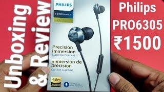 philips Hi-Res Audio PRO6305BK in-Ear Earphones Unboxing & Review Hindi - Unboxing Wala