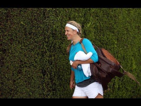 Top Tennis Players Practice at Wimbledon 2012