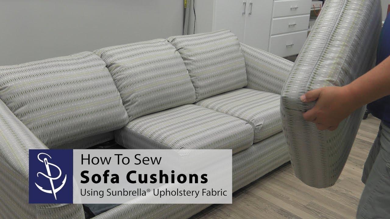 how to sew sofa cushions