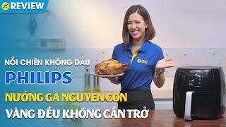 Nồi chiên không dầu Philips 5L: Chiên thực phẩm lớn, vàng đều không cần trở (HD9650) • Điện máy XANH