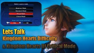 Discussion  Kingdom Hearts Difficulty Settings And Kingdom Hearts Critical Mode