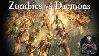 5000 Zombies vs Daemon Flamers of Tzeentch - Call of Warhammer -Medieval 2 Total War