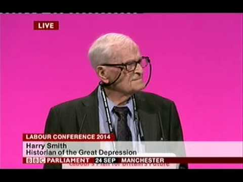 Harry Leslie Smith speaking to Labour Party conference 2014