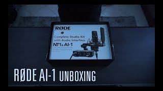 RØDE AI-1 Complete Studio Kit Unboxing in my studio
