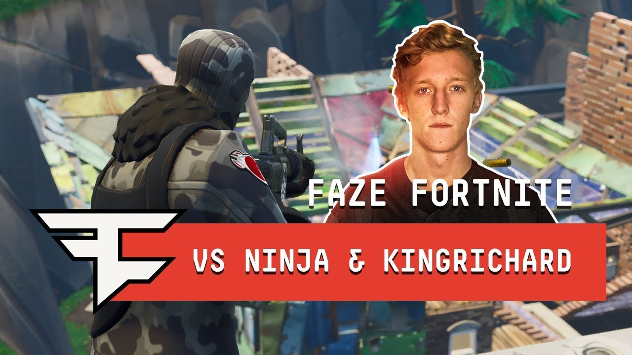 FaZe Tfue & FaZe cLoak vs Ninja & KingRichard - Fortnite 2v2 Gameplay