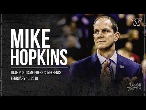 Men's Basketball: Mike Hopkins Postgame Press Conference (Utah)