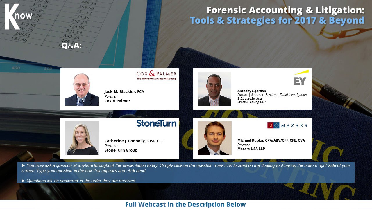 Forensic accounting litigation tools strategies for 2017 youtube forensic accounting litigation tools strategies for 2017 solutioingenieria Images