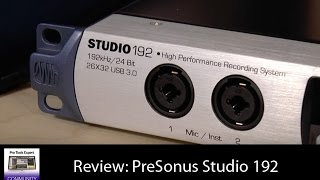 Review PreSonus Studio 192