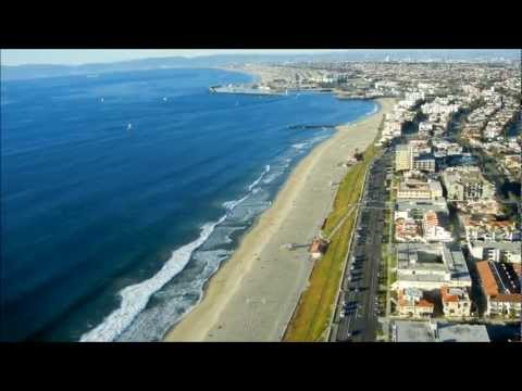 Magical helicopter flight over Manhattan Beach, and Hermosa, Redondo, and Torrance Beaches