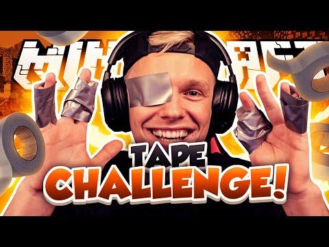 MINECRAFT TAPE CHALLENGE!