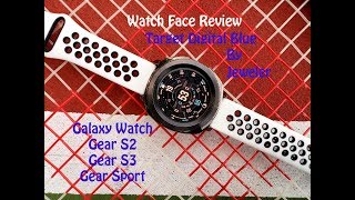 Watch Face Review : Target Digital Blue Samsung Gear S3 Galaxy Watch Gear Sport