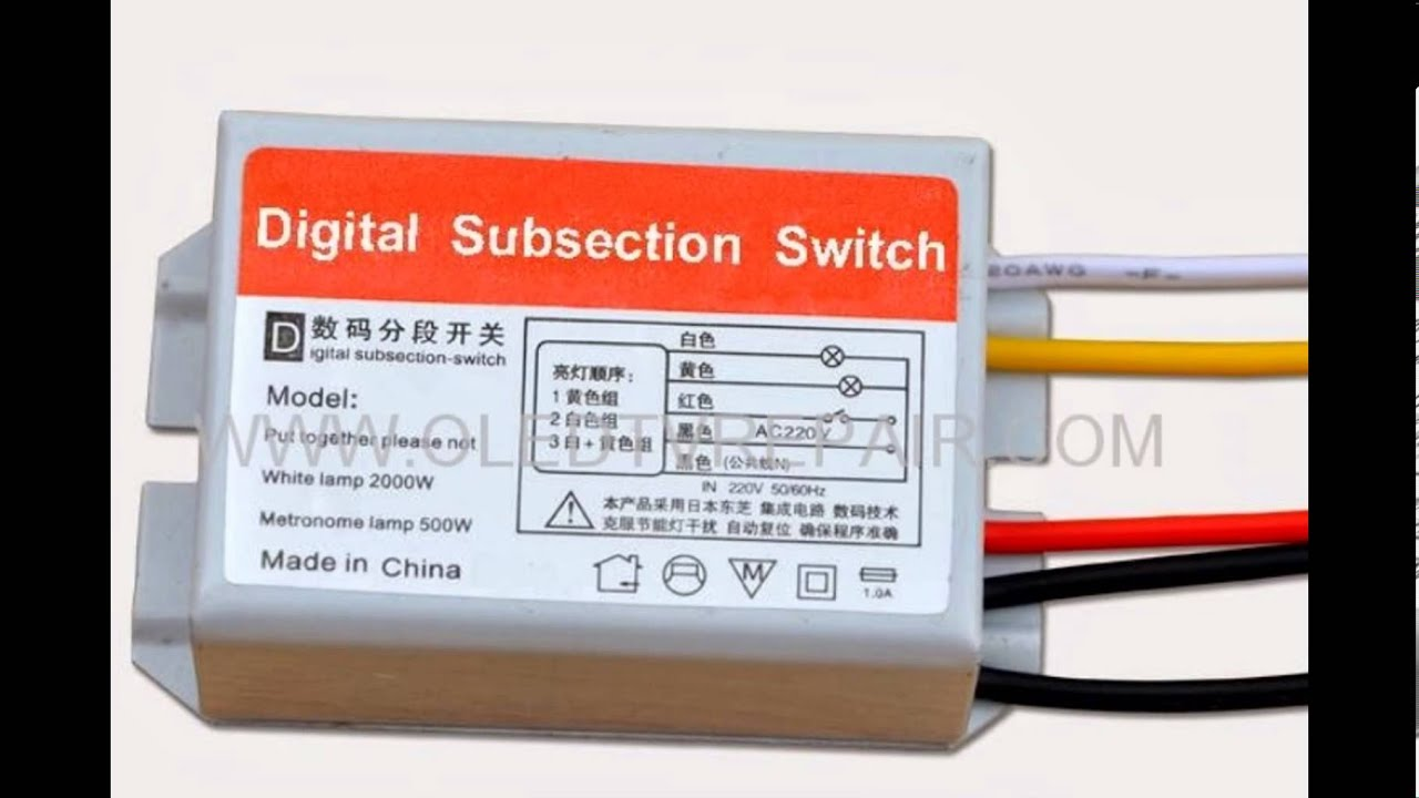 Digital Subsection Switch Led Lighting Lgiht Lamp Youtube Metronome By Transistor