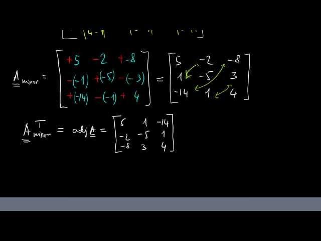 Inverz mátrix kiszámítása adjungálttal