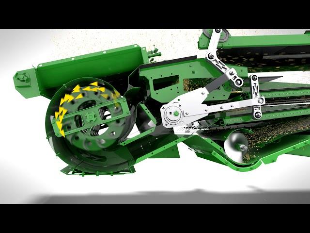John Deere Série S700 a ceifeira-debulhadora automatizada 7 – Caixa de crivos DynaFlo Plus