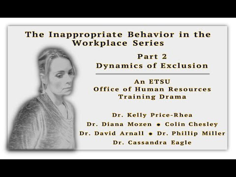 inappropriate behavior in the workplace You may notice a range of disruptive behaviors, such as inappropriate actions  and disrespectful behavior, targeted at another person in the workplace.