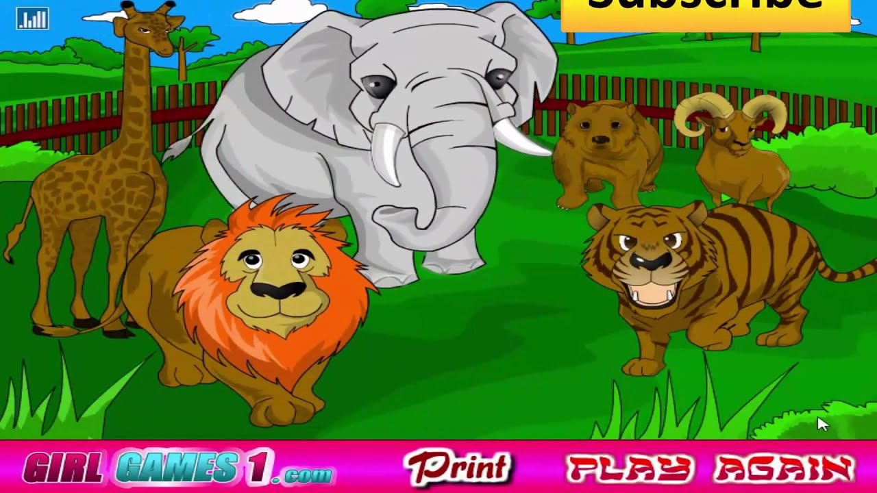 Zoo animal coloring - YouTube