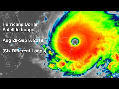 Hurricane Dorian Satellite Imagery Compilation
