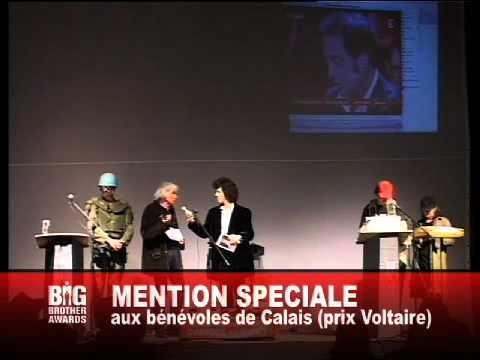 3. les Bénévoles de Calais / Big Brother Awards 2009