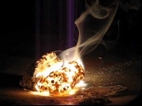 Burning Magnesium Block !