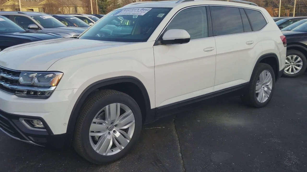 2018 Vw Atlas 3 6 Sel Premium With Captain S Chairs Youtube