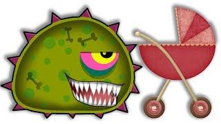 Суровый ЛИЗУН ГЛАЗАСТИК съедает все в городе! Игра Mutant Blobs Attack с ПАПУЛЕЙ