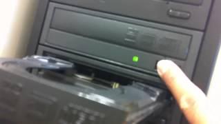 Testing The Used DVD Duplicator in Black Casing