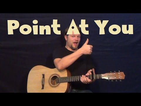 Point At You Justin Moore Guitar Lesson Easy Strum Licks How To