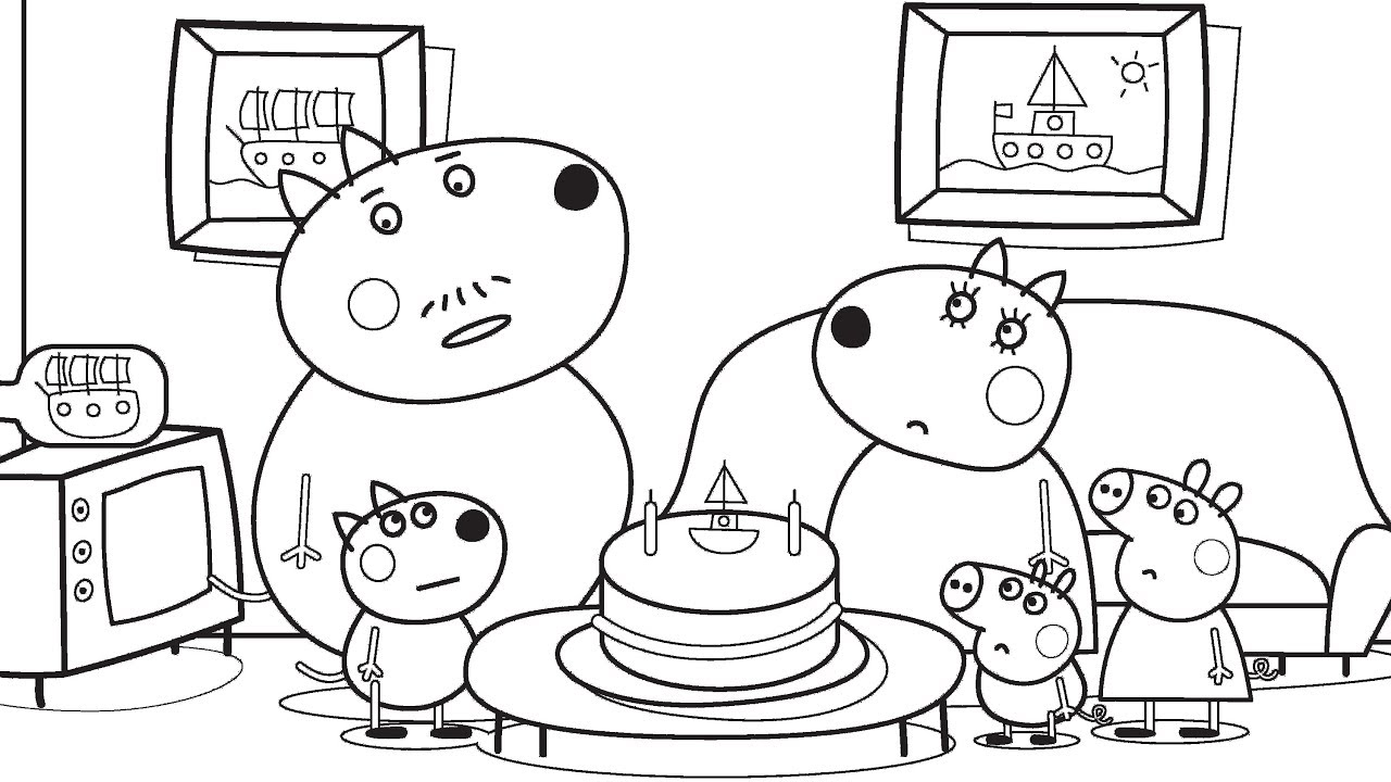 Drawing and Coloring Peppa Pig to Learn Colors  Learn To Color  VOVING  COLORING