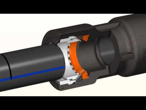 Монтаж компрессионных фитингов с пнд трубой