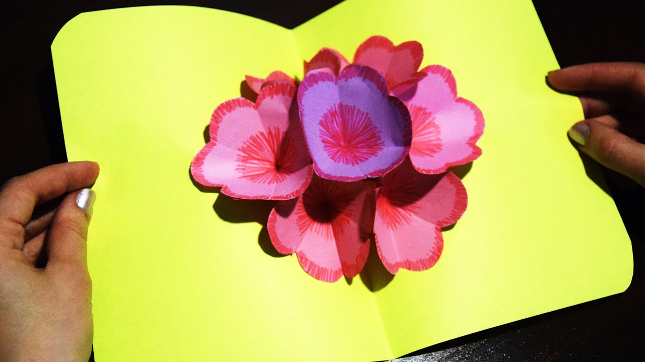 How to make 3d postcard with flowers of paper easy and simple how to make 3d postcard with flowers of paper easy and simple gift mightylinksfo