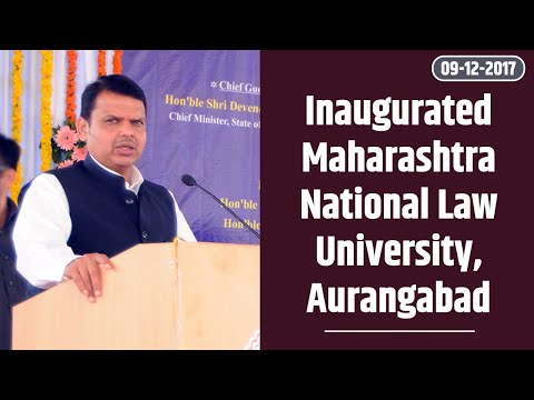 CM Shri Devendra Fadnavis at Maharashtra National Law University, Aurangabad inauguration