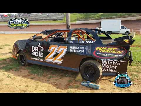 #22 Chris Reichert - Pony - 7-2-17 Tazewell Speedway - In-Car Camera