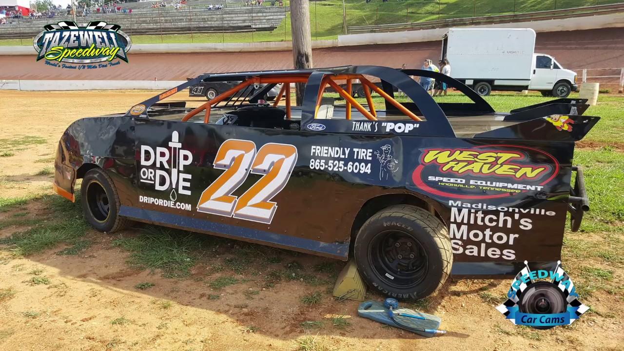22 Chris Reichert - Pony - 7-2-17 Tazewell Speedway - In-Car Camera ...