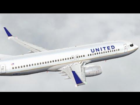 FSX HD PMDG 737-800 United 1878 Newark to Tampa Full Flight Passenger Wing View