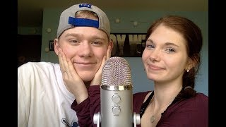 ASMR With Girlfriend (Attempted Hand Sounds/Bloopers)
