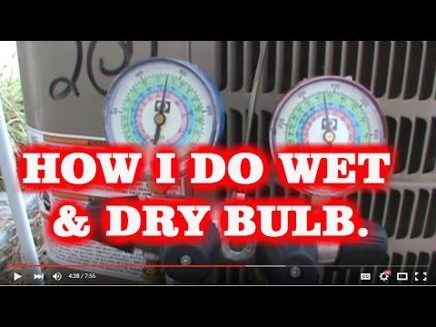 HVAC How I do wet/dry bulb to get target superheat. R-410A - Analogue Gauges