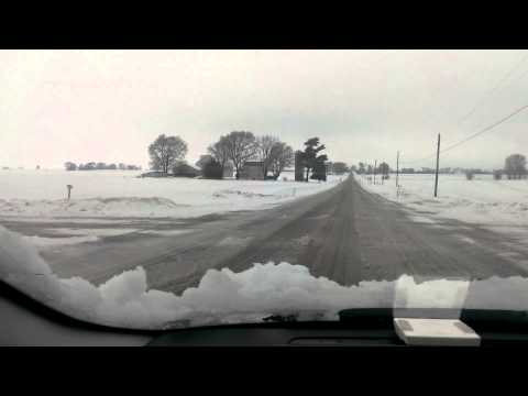 Illinois country snow drive