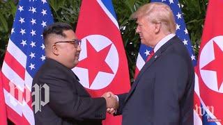 President Trump meets with North Korean leader Kim Jong Un