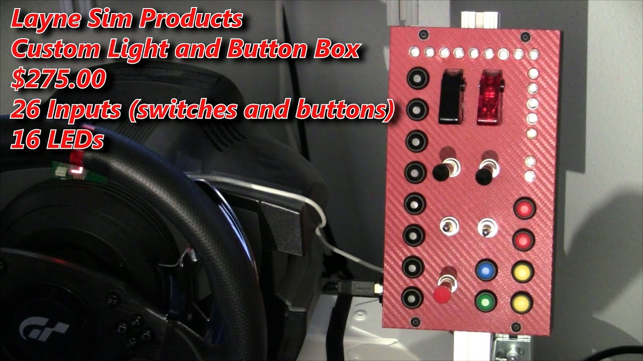 PC Button and LED box by Layne Sim Products reviewed by Inside Sim Racing