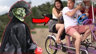 SCARY HALLOWEEN GHOST PRANK #3 👻 - AWESOME REACTIONS