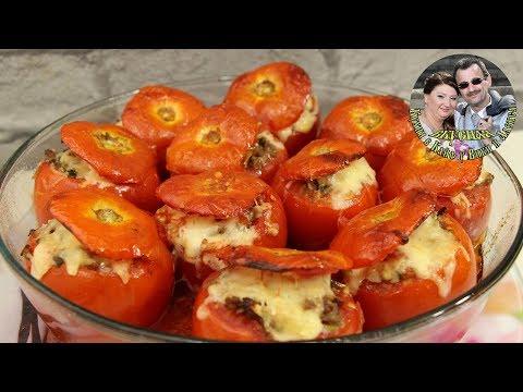 Запеченные в духовке, фаршированные помидоры. Быстрый и простой рецепт. Сытно и вкусно