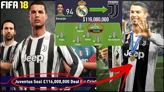 CRISTIANO RONALDO TO JUVENTUS in FIFA 18 Career Mode!!! - FIFA 18 Experiment