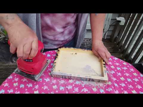 How to finish the back of your painting & resin tip