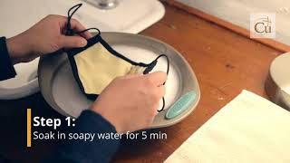 How to wash Copper Fiber Face Mask