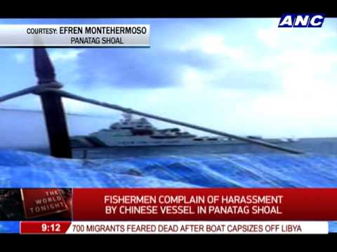 WATCH: Chinese patrol boat chases Pinoy fishermen