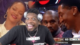 CELEBS REACTING TO NBA PLAYS! Ft. Drake, Kanye, Rihanna, & more!