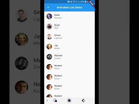 Flutter Animated List Demo