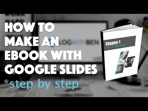 How To Make An EBook With Google Slides - FREE Template