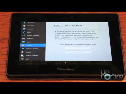 How To Factory Reset the Blackberry Playbook