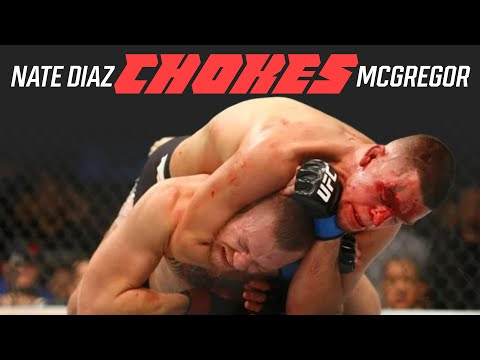 Nate Diaz CHOKES Conor McGregor (JIU-JITSU WINS!!!)